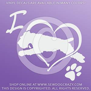 Love Wheaten Terrier Dog Sports Decals
