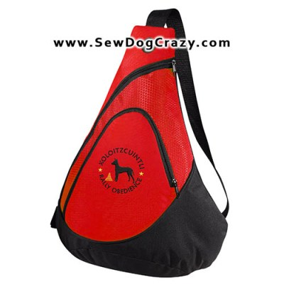 Embroidered Xoloitzcuintli Rally Obedience Bag
