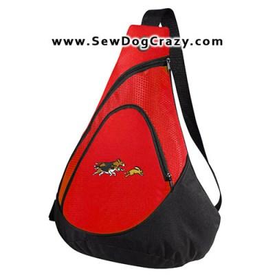 Embroidered Beagles Chasing Rabbits Bag
