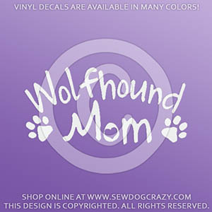Irish Wolfhound Mom Vinyl Stickers