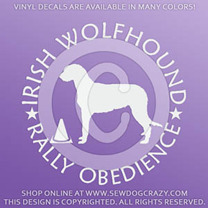 Irish Wolfhound Rally Obedience Decals