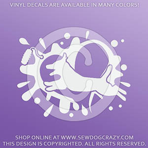 Jack Russell Terrier Dock Jumping Decals