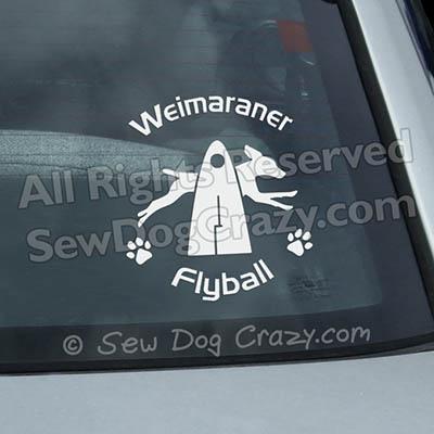 Weimaraner Flyball Decal