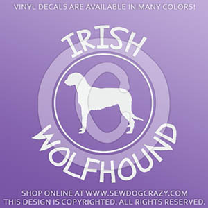 Irish Wolfhound Decals