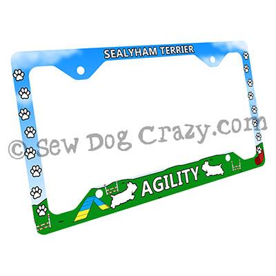 Sealyham Terrier Agility Dog License Plate Frame