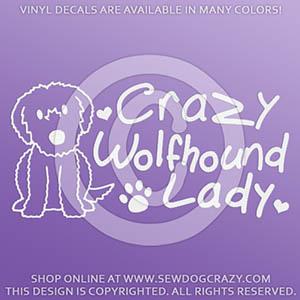 Crazy Wolfhound Lady Decals