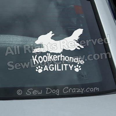 Agility Kooikerhondje Decals