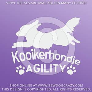 Kooikerhondje Agility Stickers