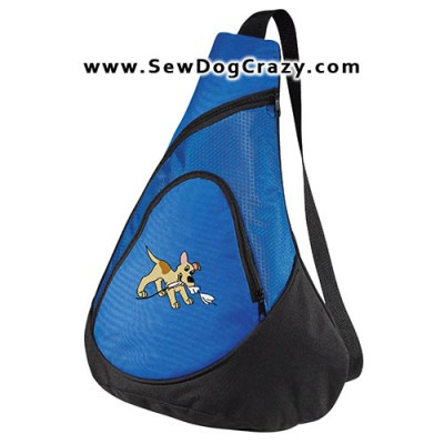 Embroidered Lure Coursing Bag