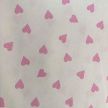 9 white with pink hearts
