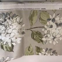 3 - linen with white hydrandgea