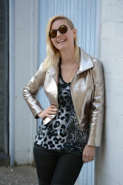 Glamrock - Gold & Leder - Sewera Fashion
