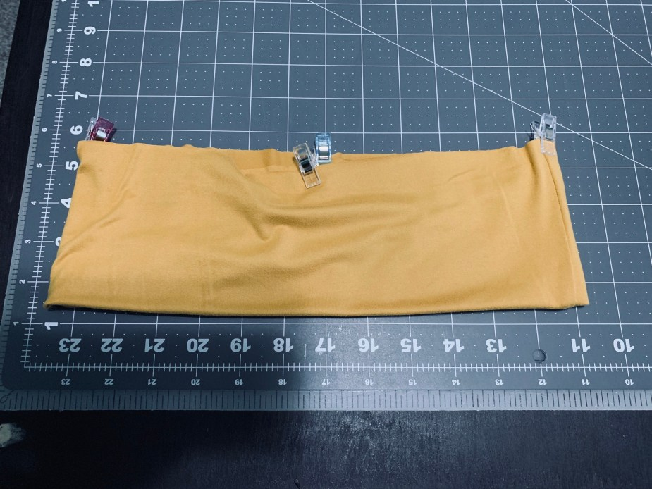divide waistband with clips to make it easier