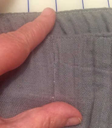 stitch in the ditch to secure elastic at seams