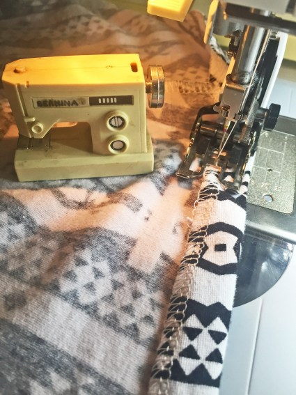 Stitching the hem