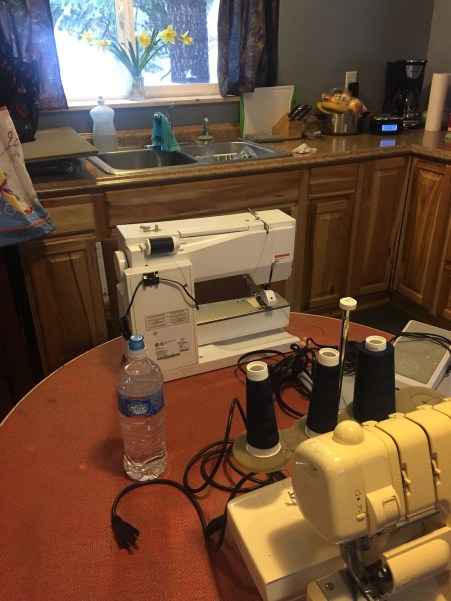 sewing machines at my snowy retreat