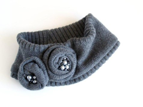 Upcycling Sweaters - Anthro Head Wrap
