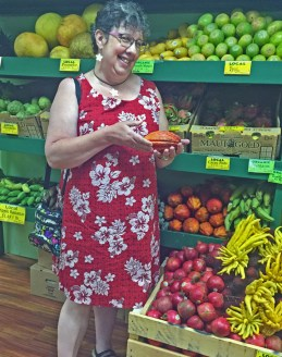 The produce department at Mana Foods in Paia.