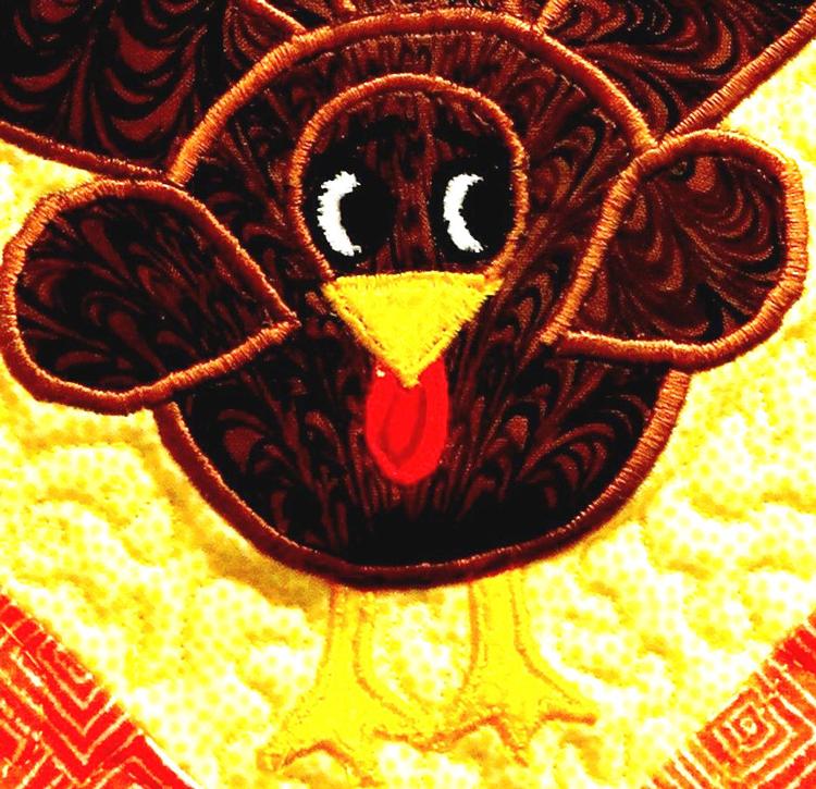 Terrified Turkey detail by LJ Christensen