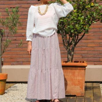 #10【美人服レシピ】 長方形で作るティアードスカート