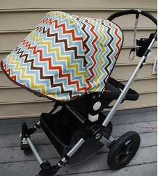 Dina from Honey u0026 Fitz shares a tutorial on her blog showing how to make a new cover for a removable stroller canopy. Iu0027m loving the snappy chevron fabric ... & Tutorial: Make a new cover for removable stroller canopy u2013 Sewing
