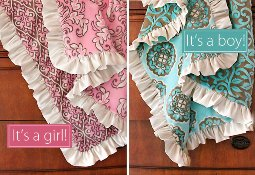 Tutorial Minky Baby Blanket With Satin Ruffle Sewing