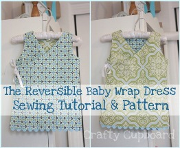 Free Pattern Reversible Wrap Dress For Baby Sewing