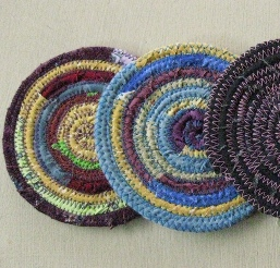 Tutorial: Coiled fabric coasters – Sewing