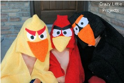 Tutorial Angry Birds Hooded Towels Sewing