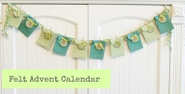 Tutorial: Felt pouch Advent calendar – Sewing