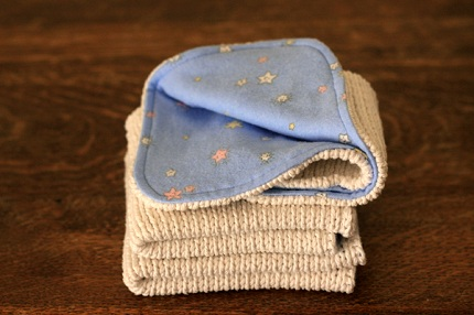 Tutorial Baby Washcloths From Old Cotton Sweaters Sewing