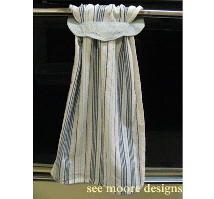 Tutorial Slip Through Kitchen Towel Topper Sewing