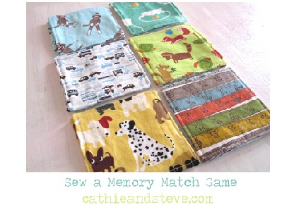 sew a memory matching game toy