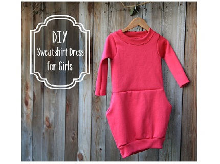 DIY-Sweatshirt-Dress-for-Girls-_