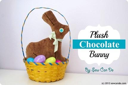 Plush Chocolate Bunny SCD