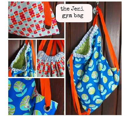 Tutorial: Drawstring backpack with grommets – Sewing