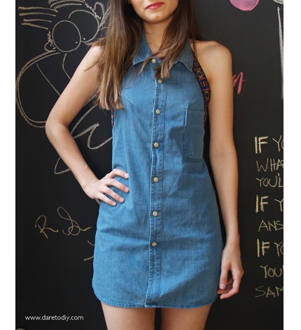 DIY dress broyfriend shirt