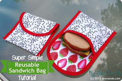 Tutorial Super Simple Reusable Sandwich Bag Sewing