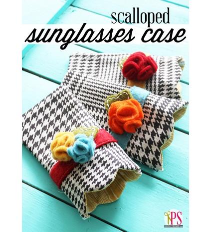 Free pattern: Scalloped sunglass case