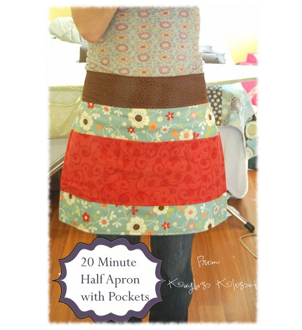 Tutorial: 20-minute half apron for kids and grown-ups