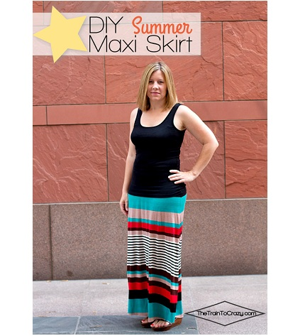 Tutorial: Simple summer maxi in a figure flattering A-line