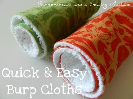 Tutorial: Terry cloth burp cloths