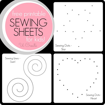 Freebie Printable Sewing Sheets To Practice Stitching Curves Sewing