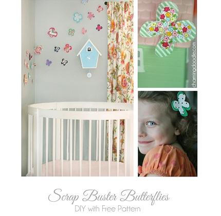 Tutorial: Scrap fabric butterflies
