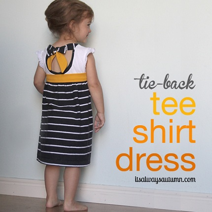 t-shirt-dress-tie-back-upcycle-girls