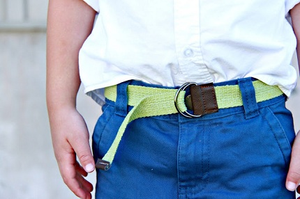 DIY Canvas Belt 7