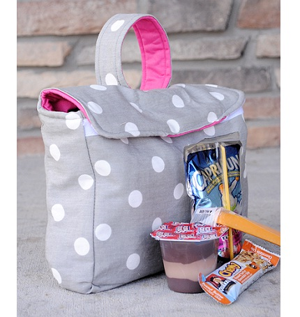 Tutorial Fabric Lunch Box Sewing