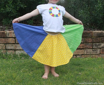 Twister Circle Skirt Finished