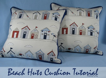 Tutorial: Contrast trim throw pillow with button closure