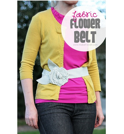 Tutorial: Fabric flower cinch belt
